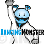 Illustration Dancing Monster - Tanzmonster Maskottchen Logo kaufen