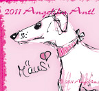 Illustration Windhund Galgo espaniol - süß in rosa...